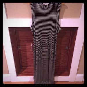 Madewell tank stretch pencil midi split dress